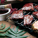Raspberry Glazed Lamb Ribs